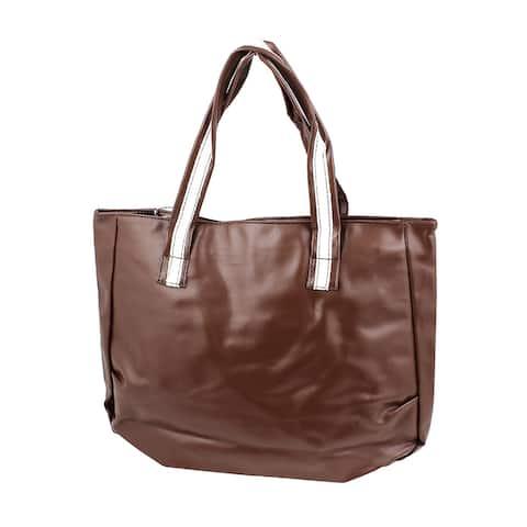 Women Traveling Shopping Coin Purse Phone Tote Bag Handbag - Brown