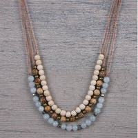 Mad Style Callie Chalcedony/White Short Necklace - Chalcedony