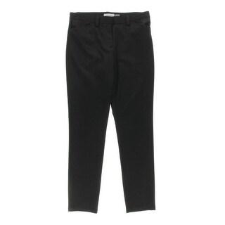 Calvin Klein Womens Skinny Pants Pattern Flat Front