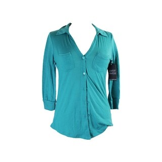 Almost Famous Teal 3/4-Sleeve Equipment Shirt L
