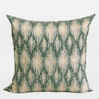 "G Home Collection Luxury Green European Classical Pattern Embroidered Pillow 20""X20"""