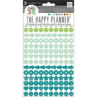Create 365 Planner Stickers 5 Sheets/Pkg-Colorful Dots