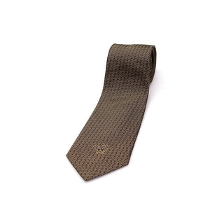 Versace Men Medusa Slim Silk Neck Tie B0739 Black Gold