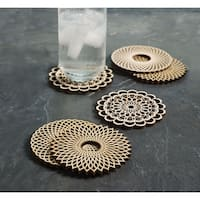 Wooden Spiral Coasters - Basswood - Set of 6