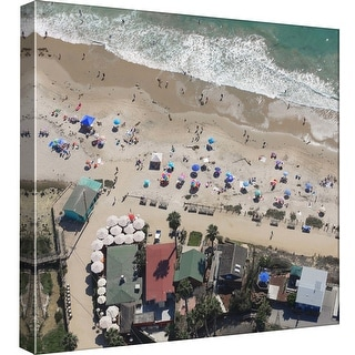 "PTM Images 9-98847  PTM Canvas Collection 12"" x 12"" - ""Detail, Crystal Cove, Ca"" Giclee Beaches and Waves Art Print on Canvas"
