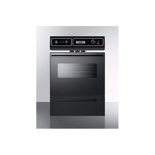 """Summit TM7212 24"""" Single Gas Wall Oven with Oven Window, Electronic Ignition, an"""