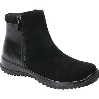 Drew Women's Kool Ankle Boot Black Suede