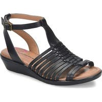abe6f2fc4a2 Comfortiva Womens Farina Leather Open Toe Beach Ankle Strap Sandals