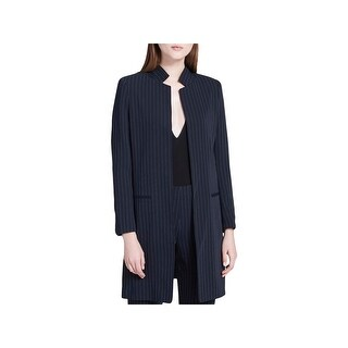Calvin Klein Womens Long Coat Open Front Long Sleeves