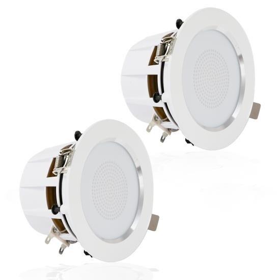 3'' Ceiling / Wall Speakers, Aluminum Frame Speaker Pair