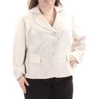 Womens Ivory Wear To Work Suit Jacket Size 22
