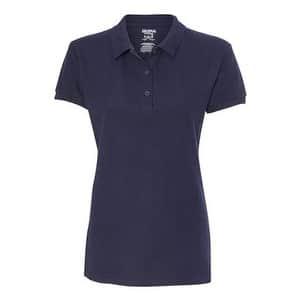 Gildan Premium Cotton Women's Double Pique Sport Shirt - Navy - S