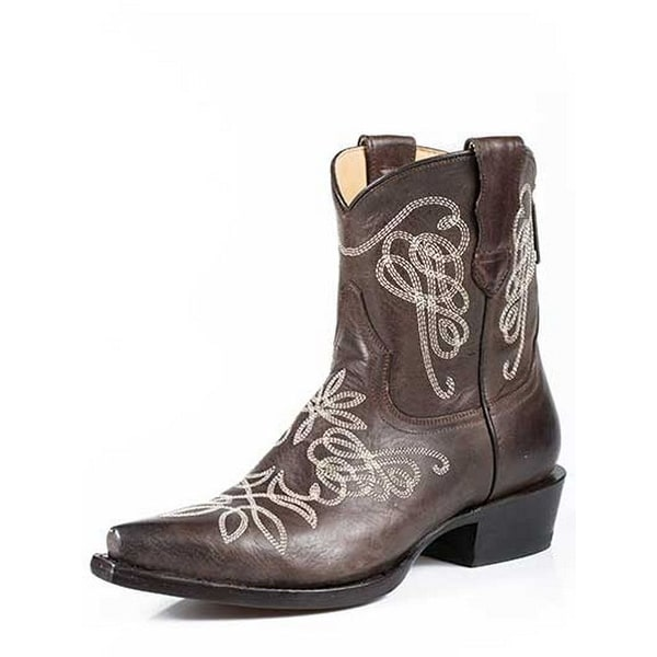 Stetson Western Boots Womens Burnished Brown