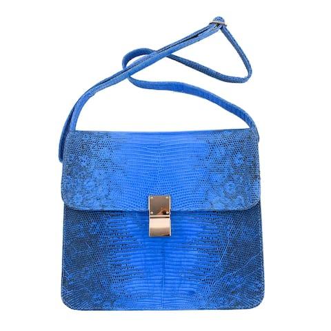 The Pelle Handmade Leather Dark Blue Crossbody Bag