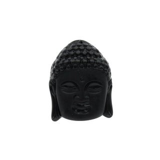 34835572 John Bead Glass Pendant Buddha 38x49mm Face Black