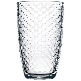 Palais Glassware Ruche Collection; High Quality Glassware Set (Set of 4 - 16.5 Oz Highballs, Clear)