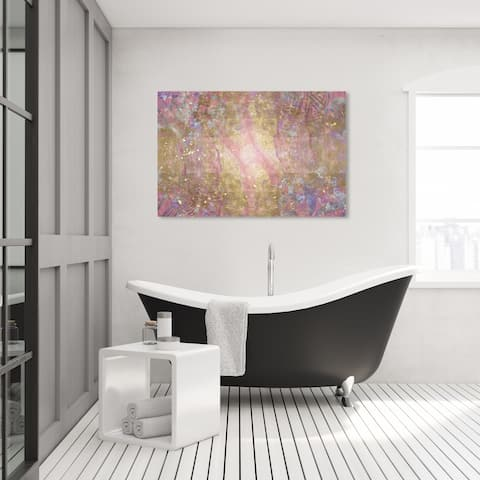 Oliver Gal 'Diamond Dreams' Abstract Wall Art Canvas Print Textures - Gold, Pink