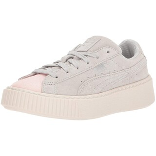 PUMA Girls suede platform glam Low Top Lace Up Walking Shoes