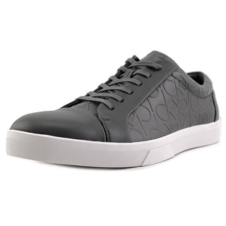 Calvin Klein Igor Men   Leather Gray Fashion Sneakers