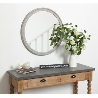 """Link to Kate and Laurel Mansell Wood Framed Wall Mirror - 28"""" Diameter Similar Items in Mirrors"""