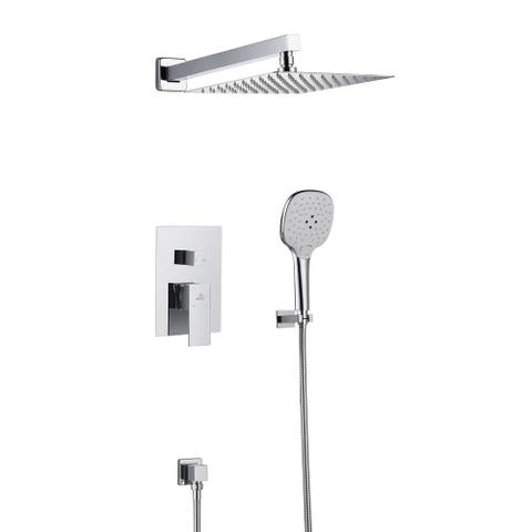 """Clihome 2 Function 10"""" Wall Mounted Dual Shower Heads Shower System"""