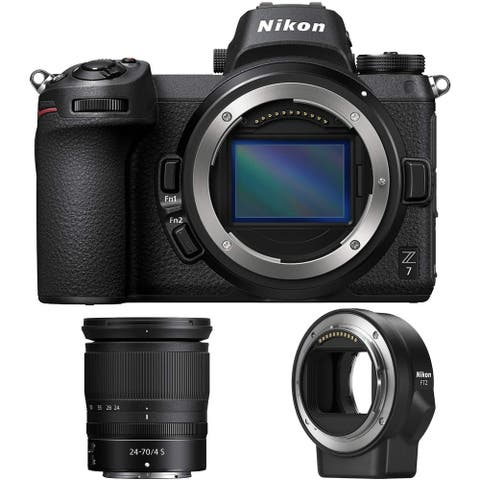 Nikon Z7 45.7MP FX Mirrorless Camera with 24-70mm Lens and FTZ Adapter