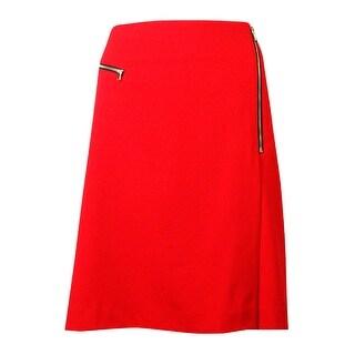 Nine West Women's Faux-Wrap Zipper Detail Pencil Skirt - 16