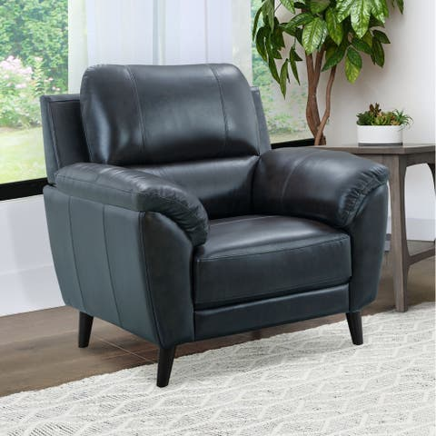 Strick & Bolton Granville Top-grain Leather Arm Chair