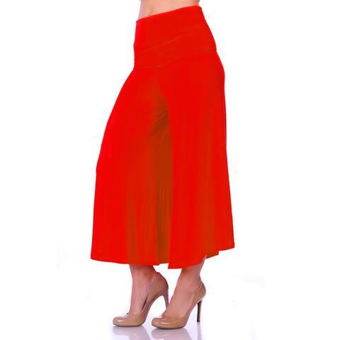Simply Ravishing Women's Knit Capri Culottes Pants (Size S-5X)