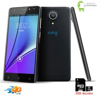 Indigi NEW 4G LTE AT&T Unlocked Android 6.0 SmartPhone + GPS + WiFi + 32gb Included - Black
