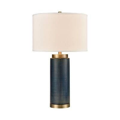 Cherry Walk - 1 Light Table Lamp Navy Blue/Antique Brass/Antique
