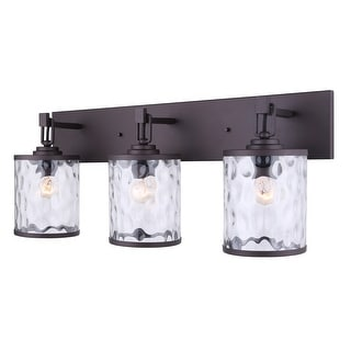 Canarm Cala 3 Light Vanity Light with Watermark Glass - Oil Rubbed Bronze - Easy Connect