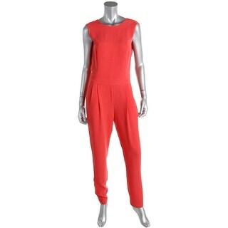 Essentiel Womens Sleeveless Crepe Jumpsuit