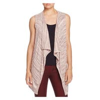 Bobeau Womens Casual Vest Draped Slub