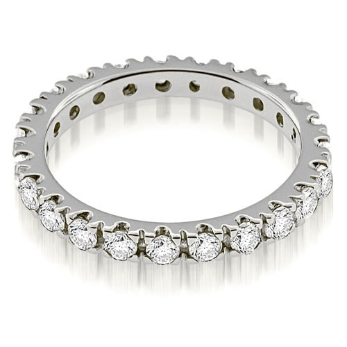 1.25 cttw. 14K White Gold Round Cut Diamond Eternity Ring