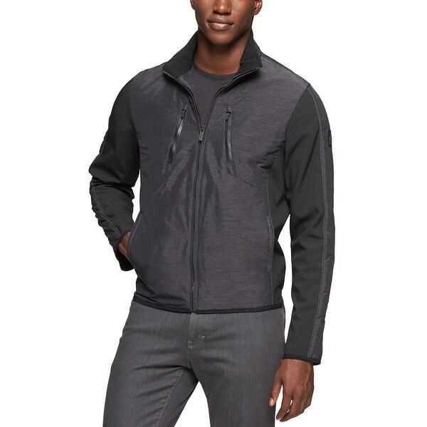 bbaa8144c67 Shop Calvin Klein Softshell Garret Panel Jacket Large Black Full Zip  Windbreaker - Free Shipping Today - Overstock - 14021367