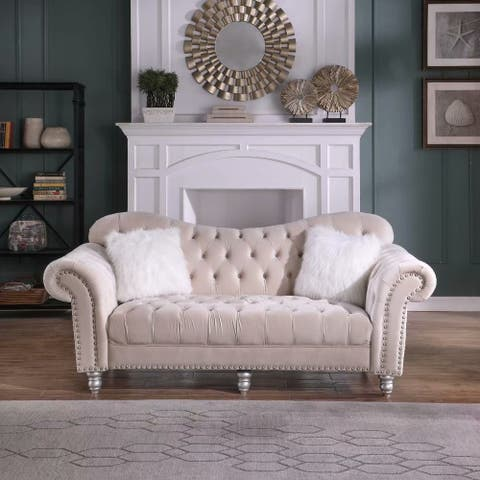 Morden Fort Luxury Classic America Chesterfield Tufted Camel Back Armchair Living Room Sofa