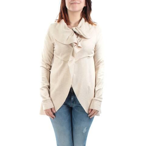 KENSIE Womens New 7611 Beige Crew Neck Long Sleeve Casual Sweater S