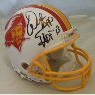 "Warren Sapp Autographed Tampa Bay Buccaneers Throwback Mini Helmet w""HOF 2013"""