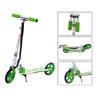 Goplus Foldable Aluminum 2 Wheels Kids Kick Scooter Height Adjustable Christmas Gift