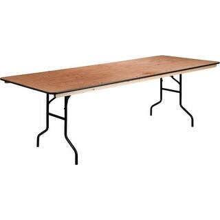 Rivera 36'' x 96'' Rectangular Wood Folding Banquet Table, 680 lb Load