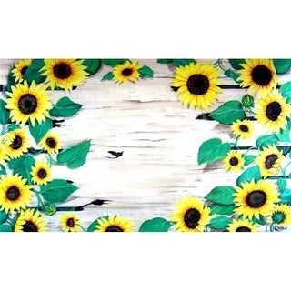Custom Printed Rugs AWV081 Sunflower 18 x 30 in. Doormat Rug - Gold & Yellow Green Yellow