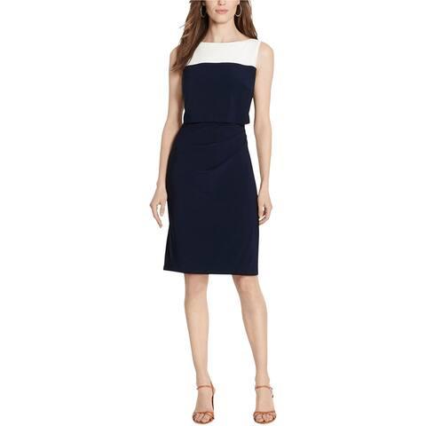 American Living Womens 2 Tone Popover Sheath Dress, multicoloured, 6