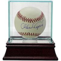 Orlando Cepeda signed Official Major League Baseball w Glass Case
