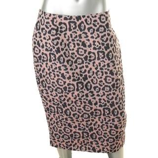 Helene Berman Womens Animal Print Fitted Pencil Skirt - L