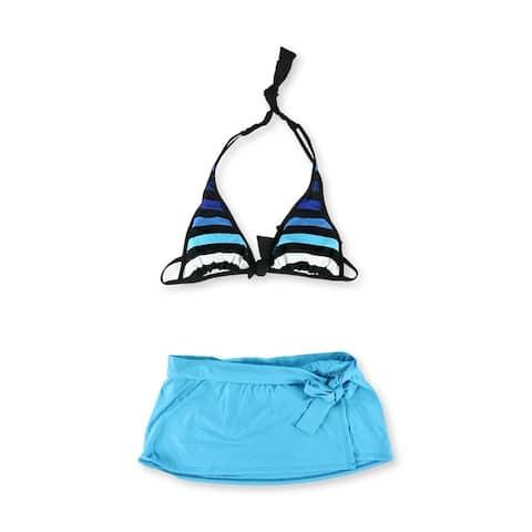 Tommy Bahama Womens Striped Skirtini 2 Piece Bikini