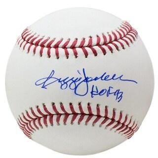Reggie Jackson New York Yankees Signed Official MLB Baseball HOF 93 Insc JSA