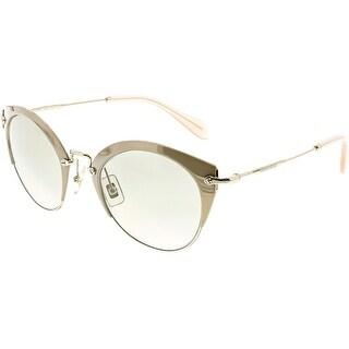 Miu Women's MU53RS-UFD3H2-52 Gold Aviator Sunglasses