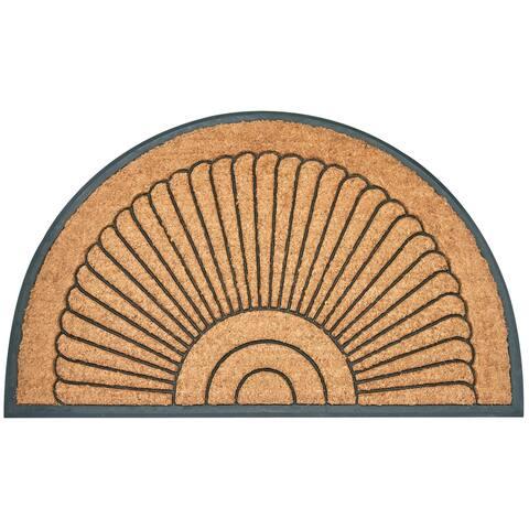 "Envelor Arc Du Soleil Rubber Backing Coco Entrance Mat Welcome Doormat, 24"" x 39"""