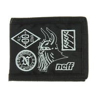 neff Men's Warlords Bilfold Wallet Black One Size Bi-Fold 100% Nylon - One Size Fits Most